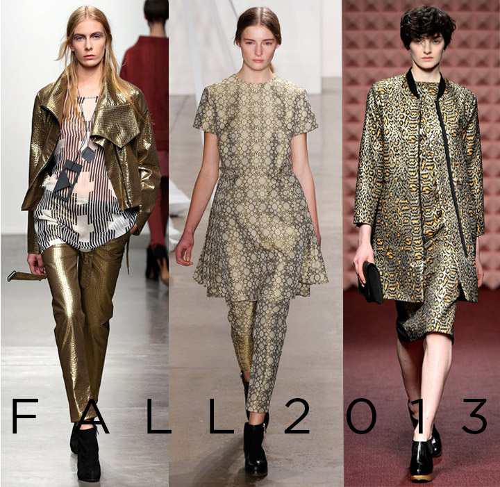 Fall 2013 Trend- Golden Child  Gold Metallic Jacquards | DeSmitten