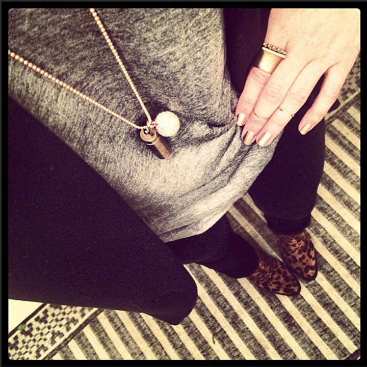 My NYC Uniform. Black Skinny Jeans, Grey t-shirt, leopard booties and assorted metal jewels