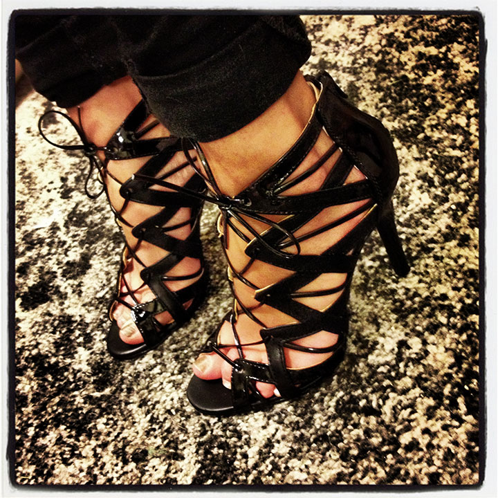 Designer Lace up Sandals Black Lace up Sandals