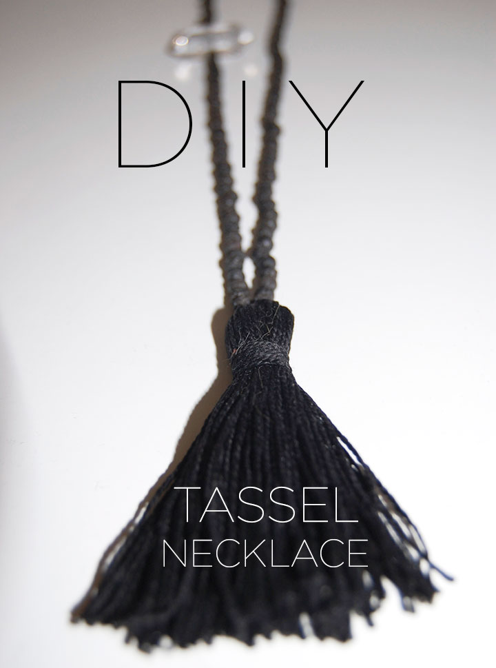 DIY TASSEL NECKLACE | DeSmitten