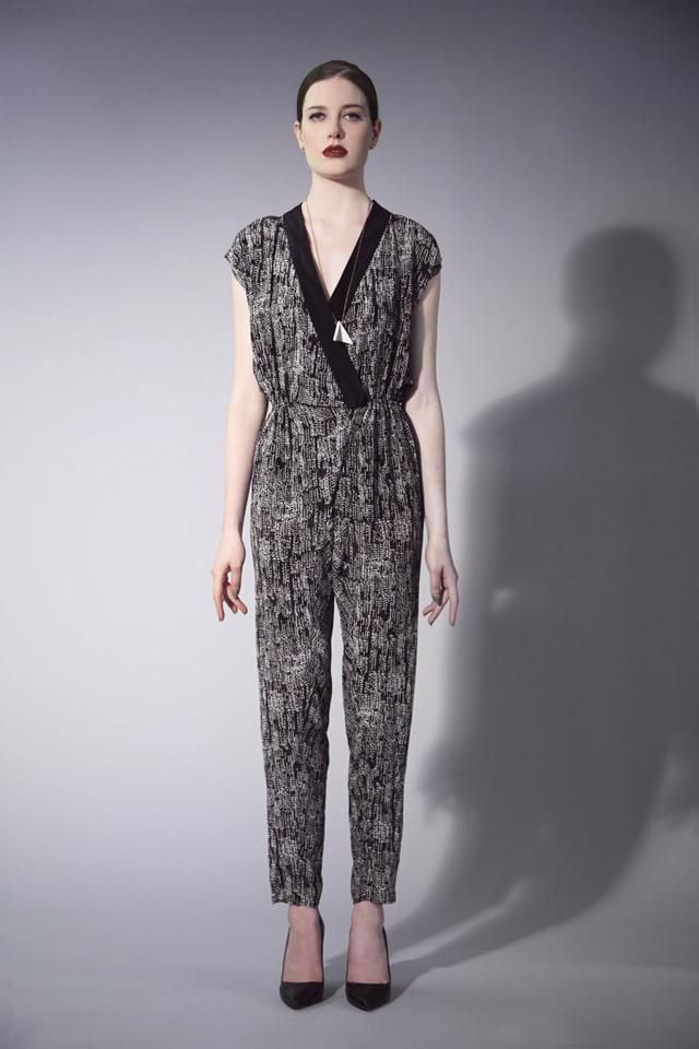 Serena da Conceicao Fall 2013 Women's Fashion. Printed jumpsuit, Hair by MaryAnna Fitzgerald Model Cristi Duncan Photography by Michael Casker Styling by Steven Tibaudo and Christina DeSmet Makeup by Mariko Hirano | DeSmitten
