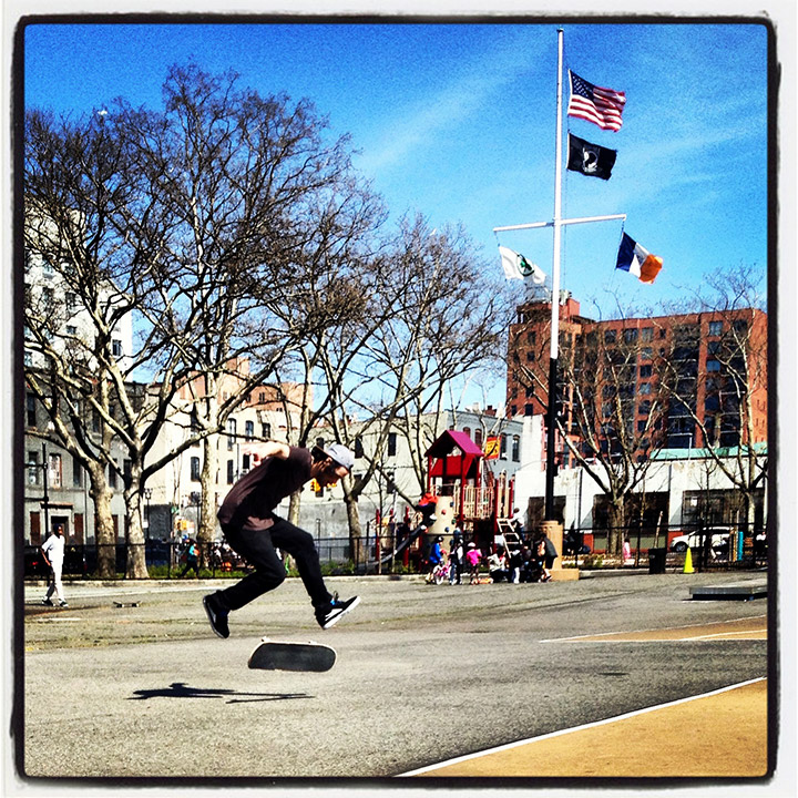 Dermot skating in Brooklyn | DeSmitten