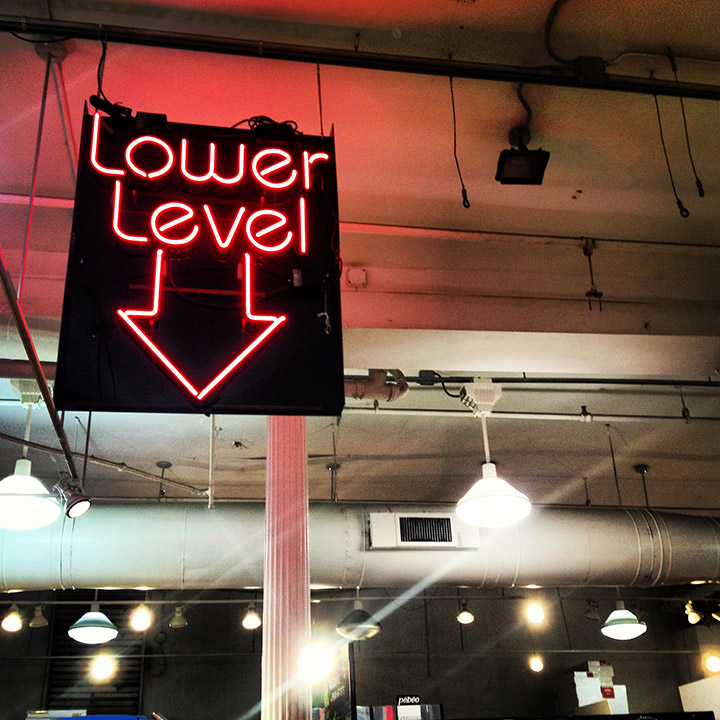 Blick Art Suply, Lower Level Neon Sign  | DeSmitten