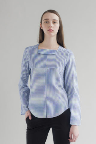 FOURTH FRONT COLLAR STRIPED SHIRT DE SMET