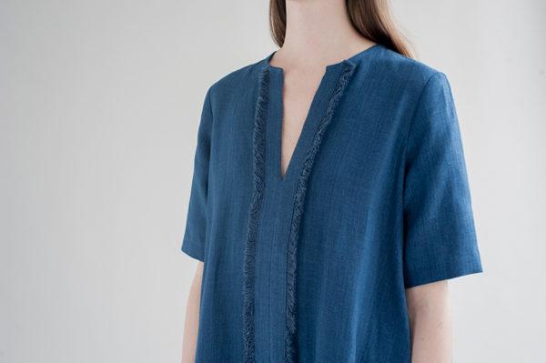 12th-fringed-placket-dress-indigo-2-made-in-ny-DE-SMET