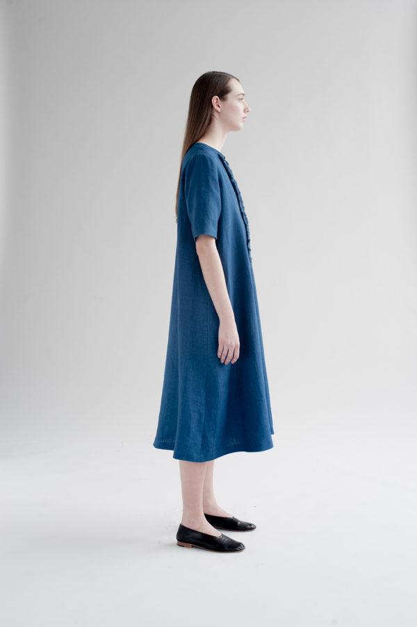 12th-fringed-placket-dress-indigo-3-made-in-ny-DE-SMET
