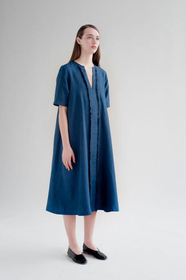 12th-fringed-placket-dress-indigo-6-made-in-ny-DE-SMET