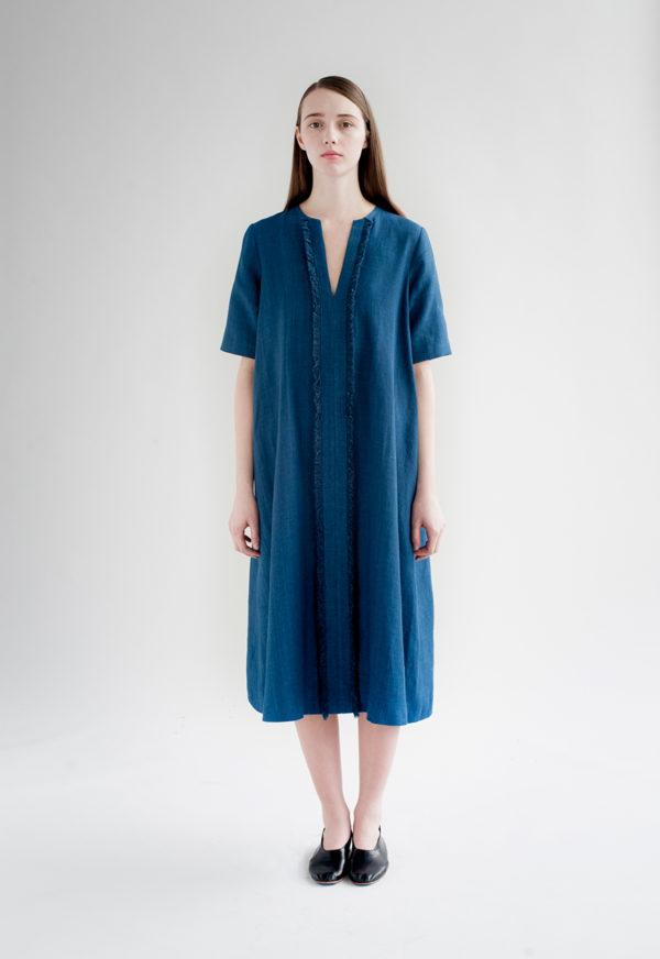 12th-fringed-placket-dress-indigo-7-made-in-ny-DE-SMET