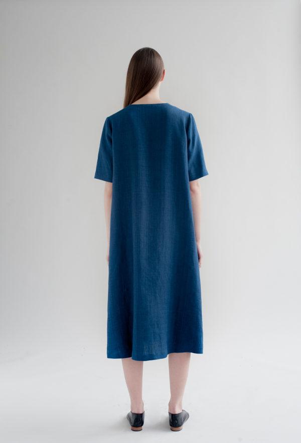 12th-fringed-placket-dress-indigo-made-in-ny-DE-SMET