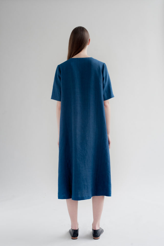12th-fringed-placket-dress-indigo-made-in-ny-DE-SMET