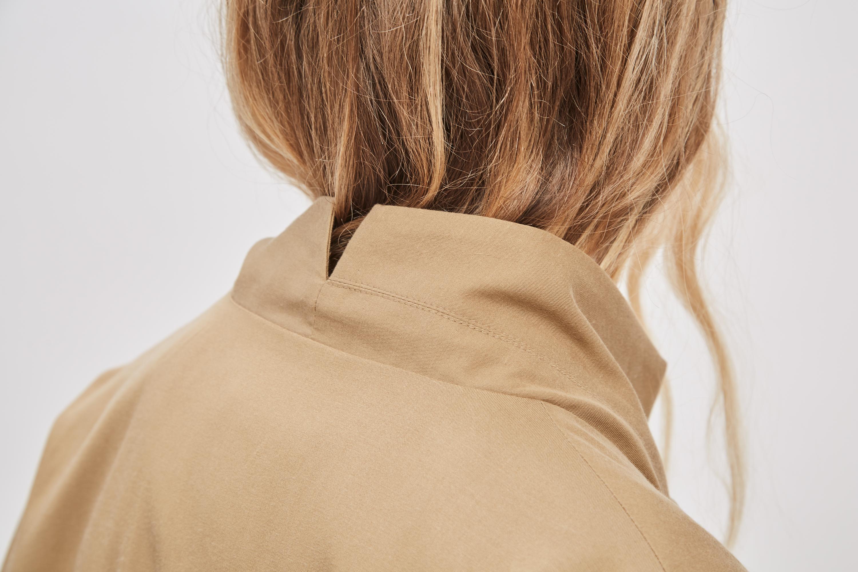 Back Neck Asymmetrical Overcoat